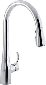 5. KOHLER 596-CP Simplice Kitchen Faucet